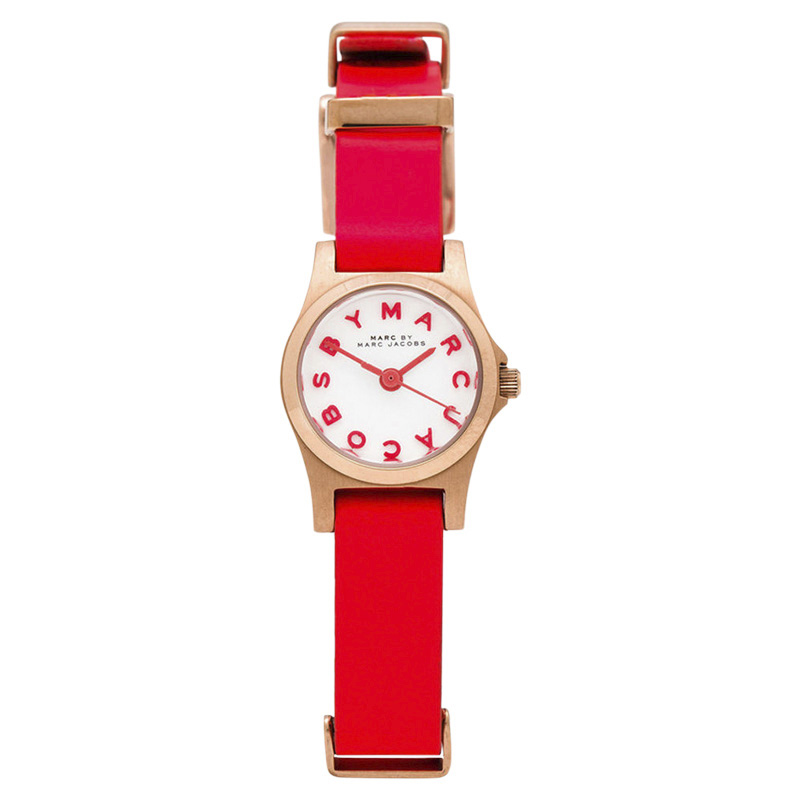 "Image of ""Marc by Marc Jacobs Henry Mbm1315 Stainless Steel / Leather Strap 21mm"""