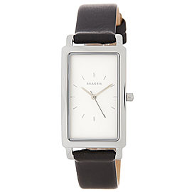 Skagen SKW2504 Stainless Steel & Leather White Dial Quartz 26mm Women's Watch