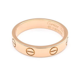 Cartier Mini Love 750 Rose Gold Ring Size 5.5