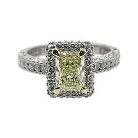 Tacori 18K White/Yellow Gold & 1.98 tcw Diamond Engagement Ring Size 5.25
