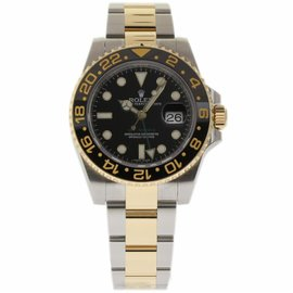 Rolex GMT-Master II 116713 Stainless Steel & 18K Yellow Gold/Ceramic Black Dial Automatic 40mm Mens Watch 2015
