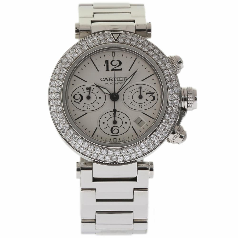 """Image of """"Cartier Pasha W31089M7 Stainless Steel 42mm Unisex Watch"""""""