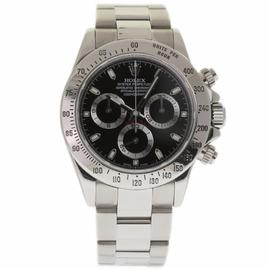 Rolex Daytona 116520 Stainless Steel Black Dial Automatic 40mm Mens Watch 2005