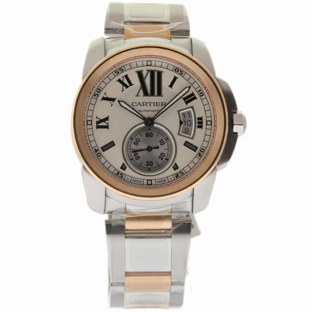 """Image of """"Cartier Calibre W7100036 Stainless Steel / 18K Rose Gold 42mm Mens"""""""
