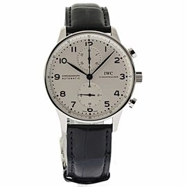 IWC Portuguese IW371446 Stainless Steel Silver Dial Automatic 41mm Mens Watch