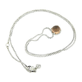 David Yurman Chatelaine 925 Sterling Silver with Morganite Necklace