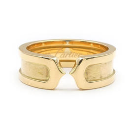 Cartier 18K Yellow Gold 2C Ring Size 6