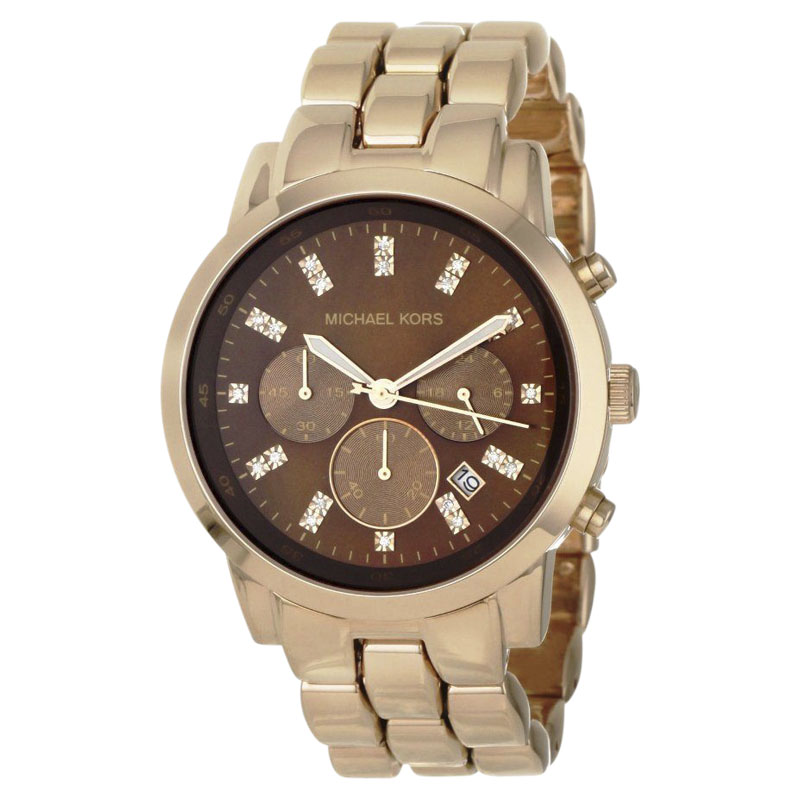 "Image of ""Michael Kors Mk5415 Rose Gold Stainless Steel Quartz 43mm Womens Watch"""