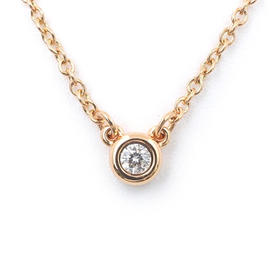 Tiffany & Co. 18k Rose Gold Elsa Peretti 0.03ct. Diamond By the Yard Necklace