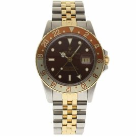 Rolex GMT Master 16753 Stainless Steel & 18K Yellow Gold Vintage 40mm Mens Watch