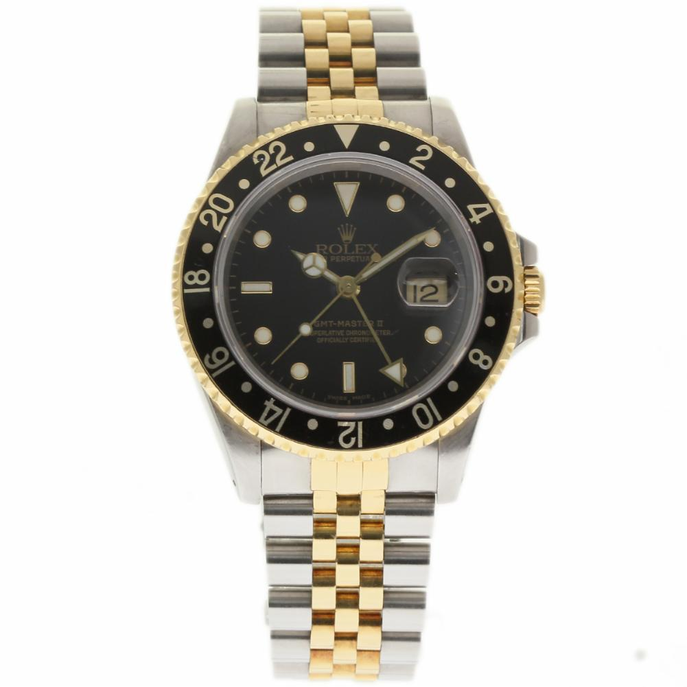 "Image of ""Rolex GMT Master II 16713 Stainless Steel / 18K Yellow Gold 40mm Mens"""