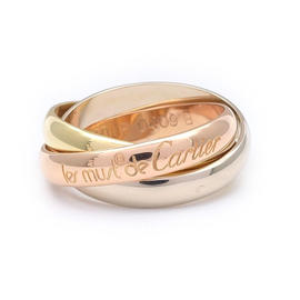 Cartier Trinity 18K Yellow Gold, Rose Gold and White Gold Ring Size 5.25