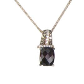 Le Vian Chocolatier 14K Rose Gold with 0.16ct Diamonds and Rhodolite Garnet Necklace