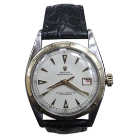 Rolex Datejust 6105 Bubbleback 18K Gold & Stainless Steel 36mm Mens Watch