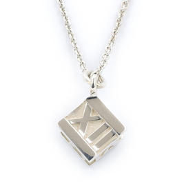 Tiffany & Co. Atlas 925 Sterling Silver Cube Necklace