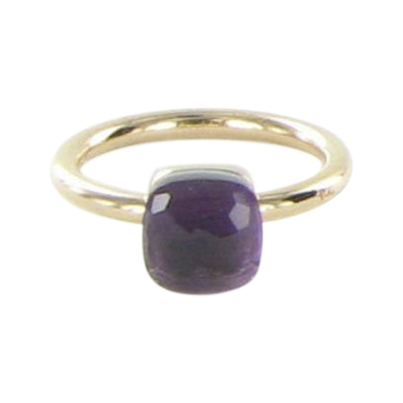 """""Pomellato Nudo 18K Rose Gold with Amethyst Ring Size 7"""""" 1639843"