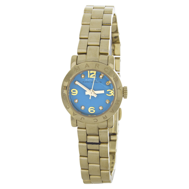 "Image of ""Marc By Marc Jacobs Mbm3229 Gold-Tone Stainless Steel Aqua Dial Quartz"""