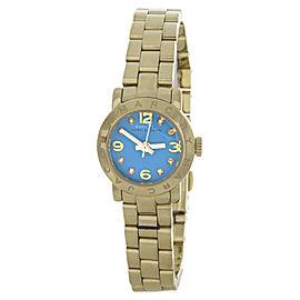 Marc By Marc Jacobs MBM3229 Gold-Tone Stainless Steel Aqua Dial Quartz 20mm Womens Watch