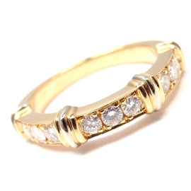 Cartier 18K Yellow Gold with Diamond Band Ring Size 5