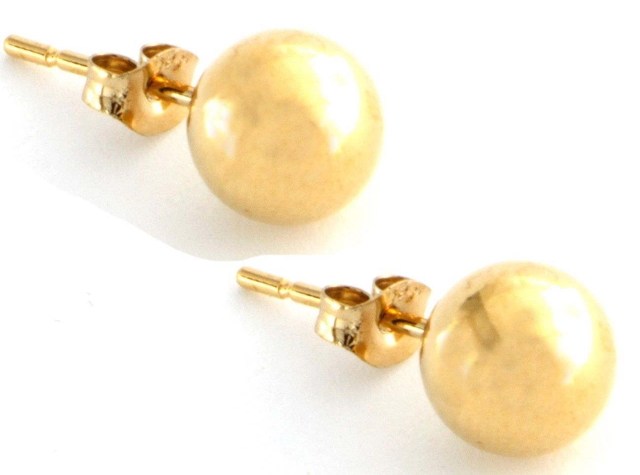 "Image of ""925 Sterling Silver Gold Finish Ball Stud Earrings"""