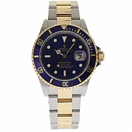 Rolex Submariner 16613 Stainless Steel & 18K Yellow Gold Blue Dial Automatic 40mm Mens Watch