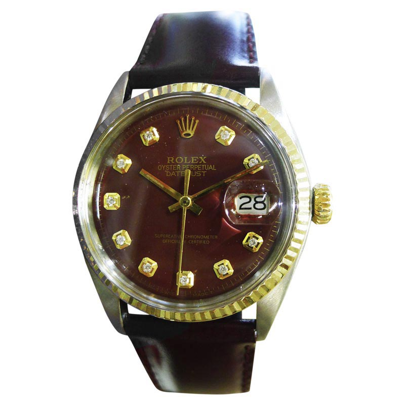 """Image of """"Rolex Datejust Stainless Steel & 18K Yellow Gold Vintage 36mm Mens"""""""