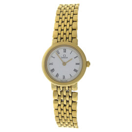 Omega Deville 18K Yellow Gold 22mm Womens Watch