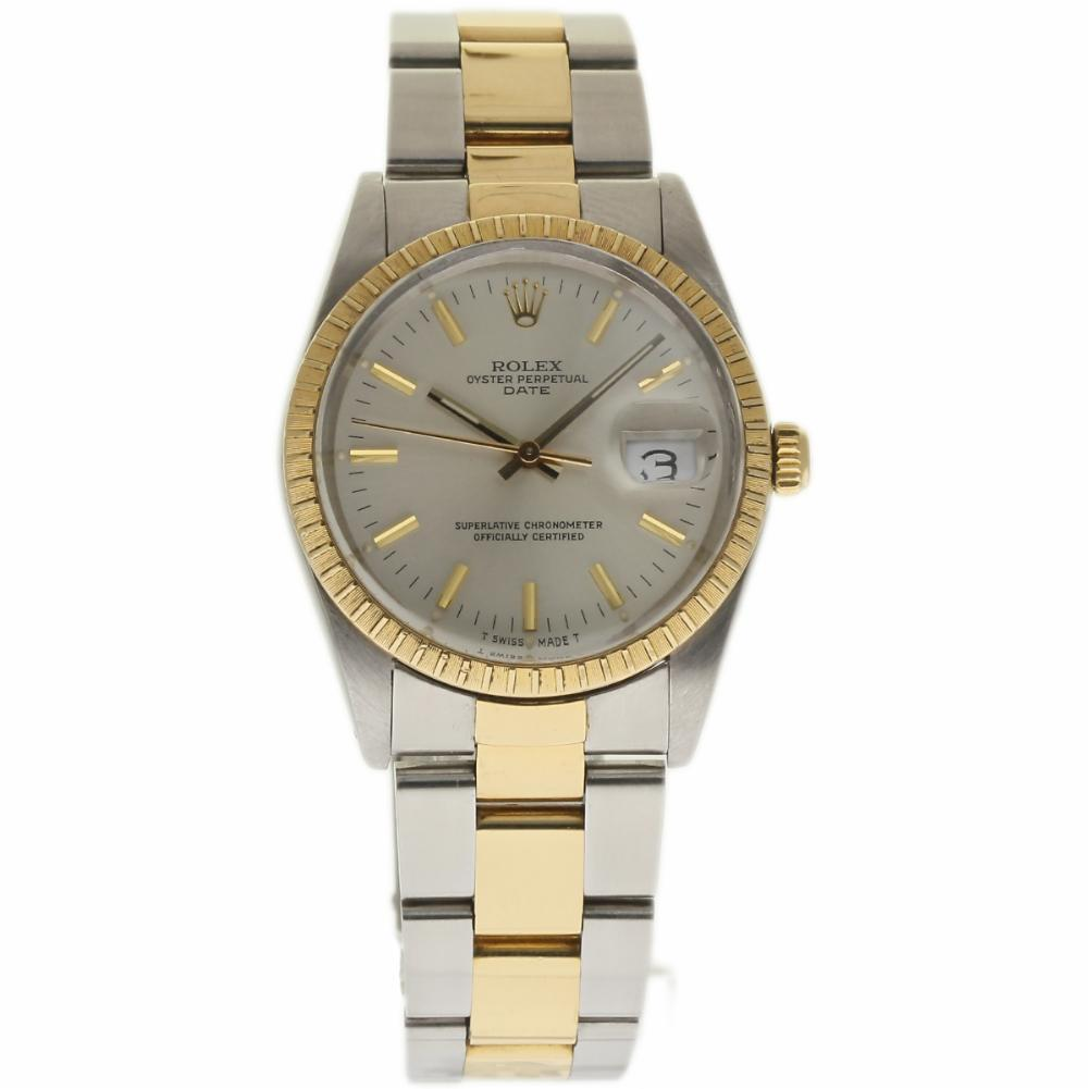 """Image of """"Rolex Date 15053 Stainless Steel & 18K Yellow Gold Silver Dial"""""""