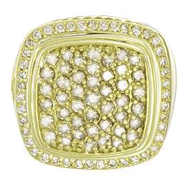 David Yurman 18K Yellow Gold Diamond Pave Ring Size 7.5