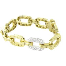 Roberto Coin Pois Moi 18K Yellow Gold 0.90ct.Diamond Bracelet
