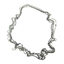 David Yurman Starburst 925 Sterling Silver Iolite Blue Topaz Bead Necklace