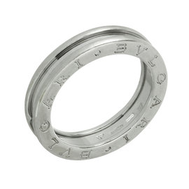 Bulgari B.Zero1 18K White Gold 1-Band Ring Size 8