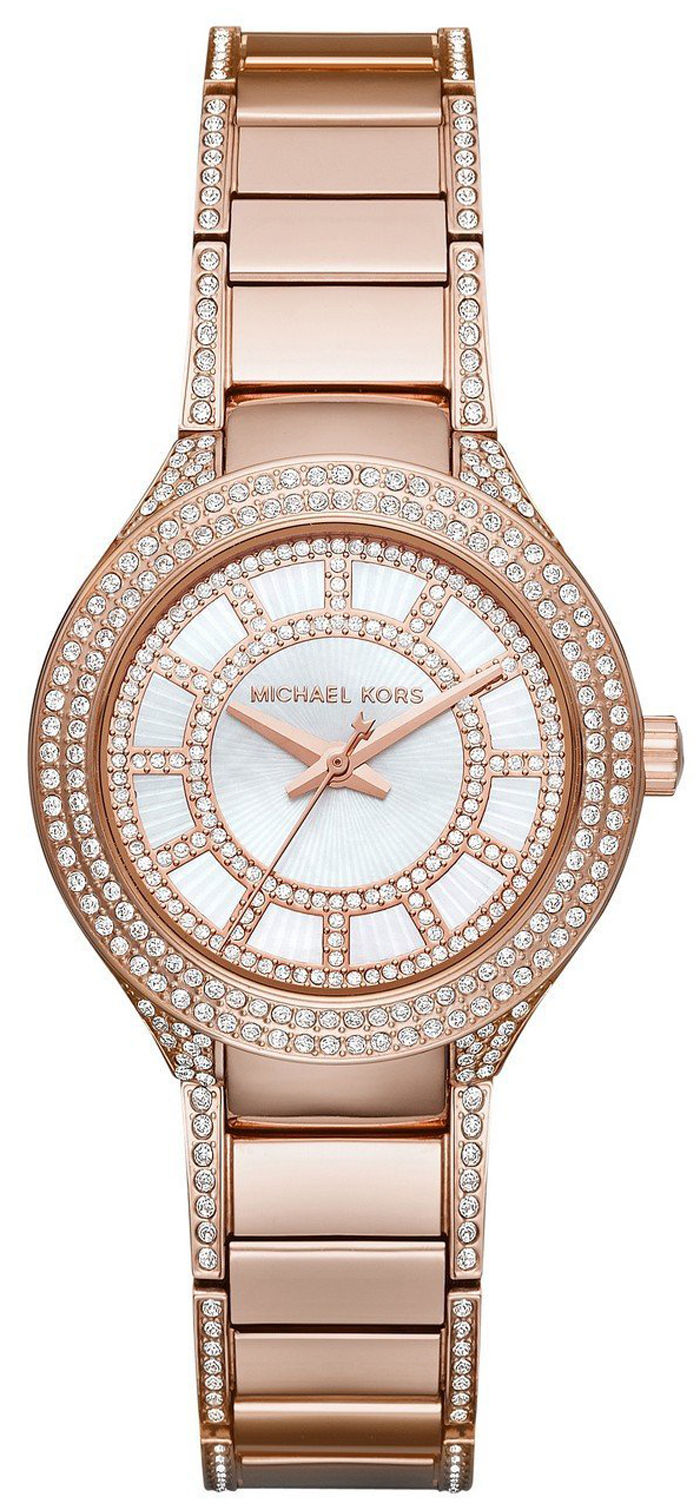 "Image of ""Michael Kors Mk3443 Rose Gold Tone Stainless Steel 33mm Womens Watch"""