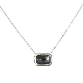 Ippolita Stella Sterling Silver with 0.18ct Diamond ,Quartz and Hematite Necklace