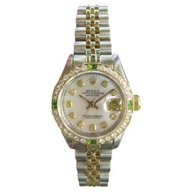 Rolex Datejust Yellow Gold and Stainless Steel Vintage 25mm Womens Watch
