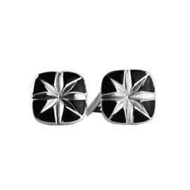 David Yurman 925 Sterling Silver Onyx Cushion Cufflinks