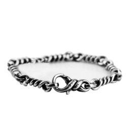 David Yurman 925 Sterling Silver Cable Twist Link Station Bracelet