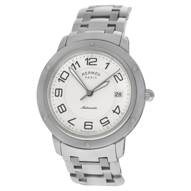 """Image of """"Hermes Clipper Cp2.810 Stainless Steel Automatic 39mm Mens Watch"""""""