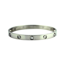Cartier Love 18K White Gold with Diamond Bracelet
