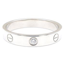 Cartier Mini Love 750 White Gold & Diamond Ring