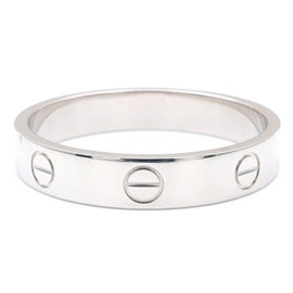 Cartier Mini Love 750 White Gold Ring