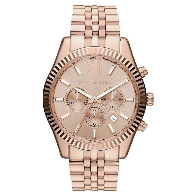 """Image of """"Michael Kors Mk8319 Rose Gold Tone Stainless Steel 44mm Womens Watch"""""""
