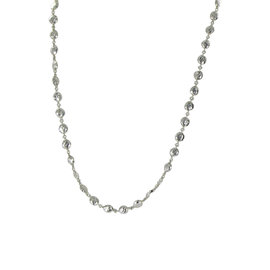 Ippolita Glamazon 925 Sterling Silver Flat Hammered Beads Necklace