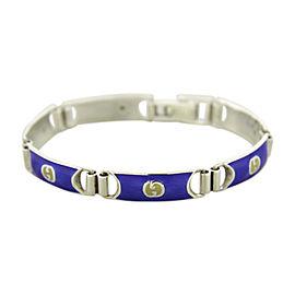 Gucci 925 Sterling Silver & Enamel Bracelet