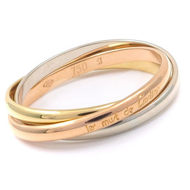 Cartier Trinity 18K Yellow, White & Pink Gold Ring Size 6.5
