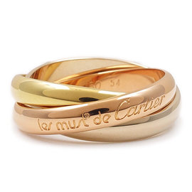 Cartier Trinity 750 Yellow, White & Pink Gold Ring
