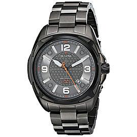 Bulova 98B225 Precisionist Black IP Stainless Steel Grey Dial 48mm Mens Watch