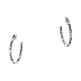 Le Vian Chocolatier 14K White Gold & 0.71ct. Diamond Inside Out Hoop Earrings