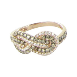 Le Vian 14K Rose Gold & 0.67ct. Diamond Infinity Ring Size 7