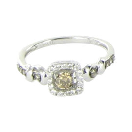 Le Vian Chocolatier 14K White Gold & 0.38ct. Diamond Center Ring Size 7